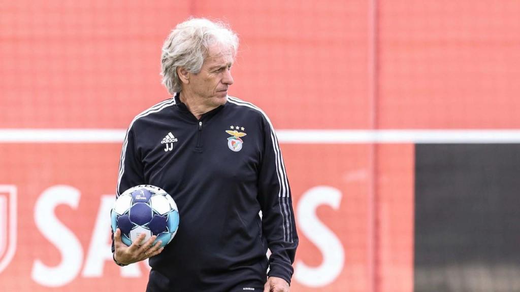 Jorge Jesus no treino do Benfica (SL Benfica)