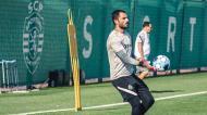 Adán no treino do Sporting (Sporting CP)