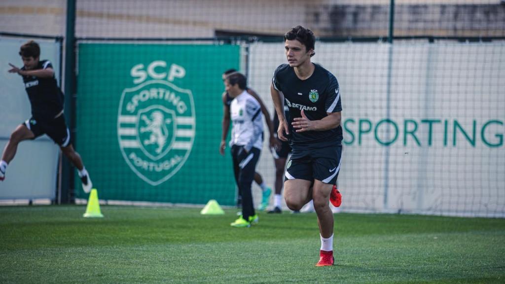 Eduardo Quaresma no treino do Sporting (Sporting CP)