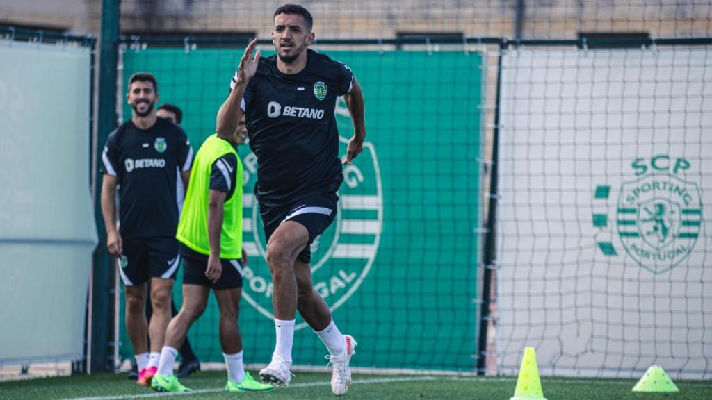 Feddal no treino do Sporting (Sporting CP)