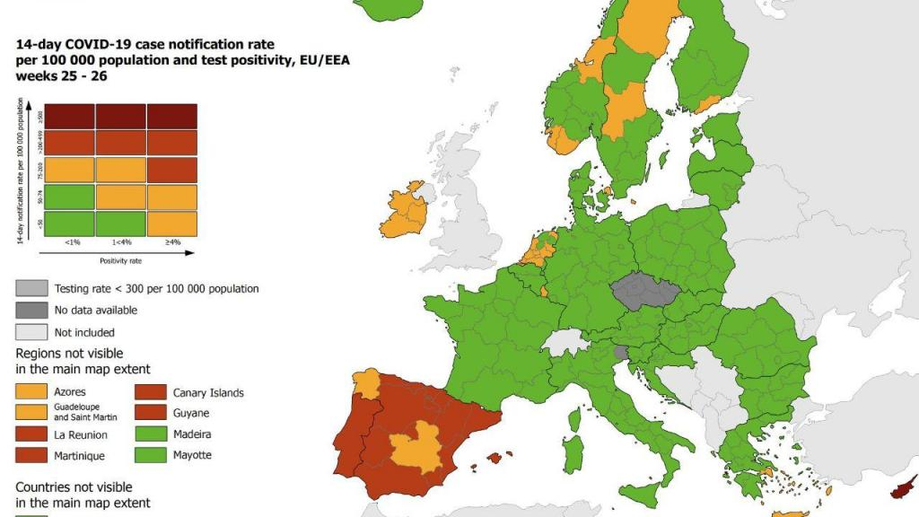 Mapa do ECDC