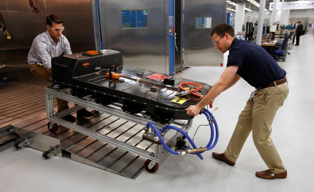 Pack de baterias do Chevrolet Bolt EV (Associated Press)