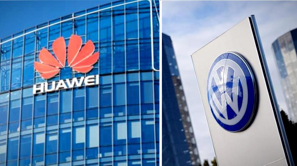 Huawei anuncia acordo para colocar 4G na Volkswagen (fotomontagem)