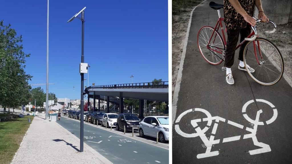 Sensores EMEL em ciclovia para contagem de bicicletas