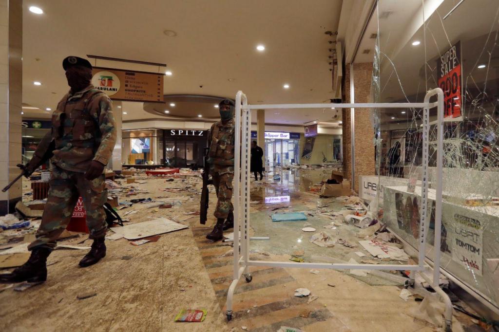 Violentos protestos na África do Sul