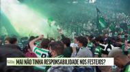 Quem foi responsável pela organização da festa do título do Sporting?