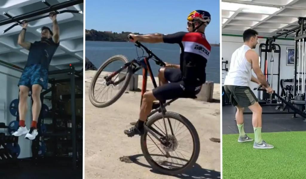 Miguel Oliveira a treinar entre corridas