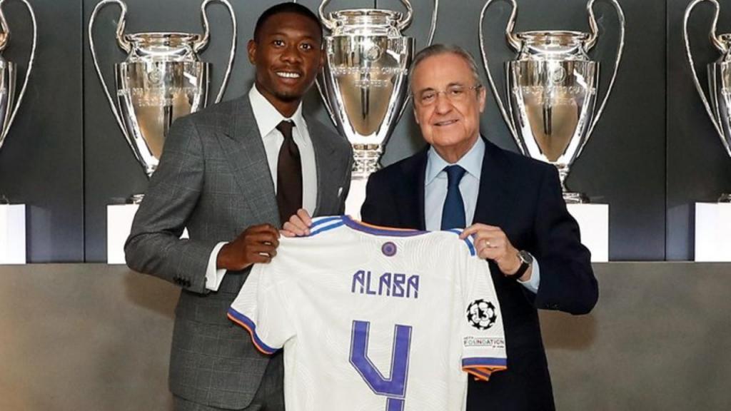 David Alaba apresentado no Real Madrid