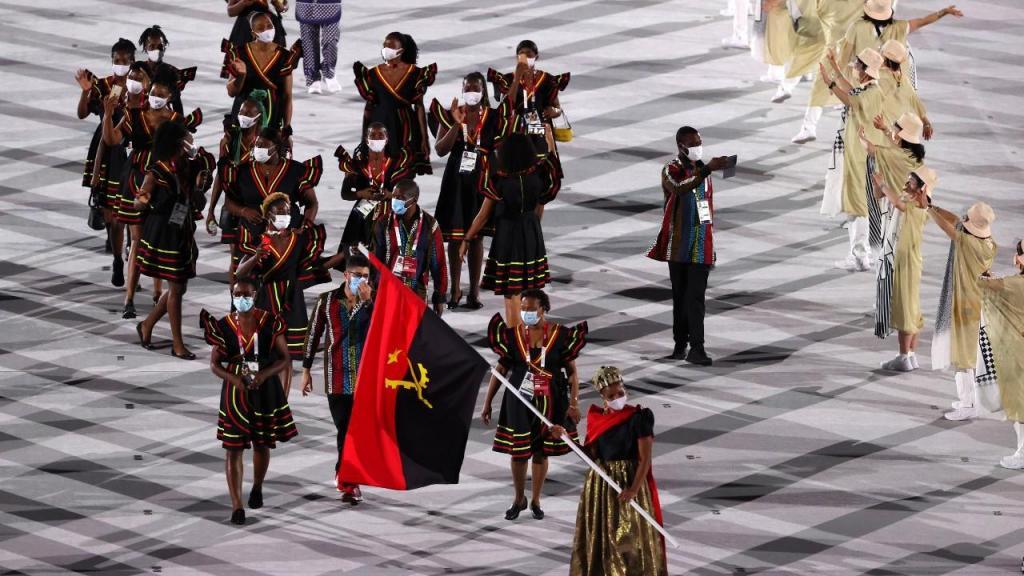 Angola na parada das nações em Tóquio 2020 (Ritchie B. Tongo/EPA)