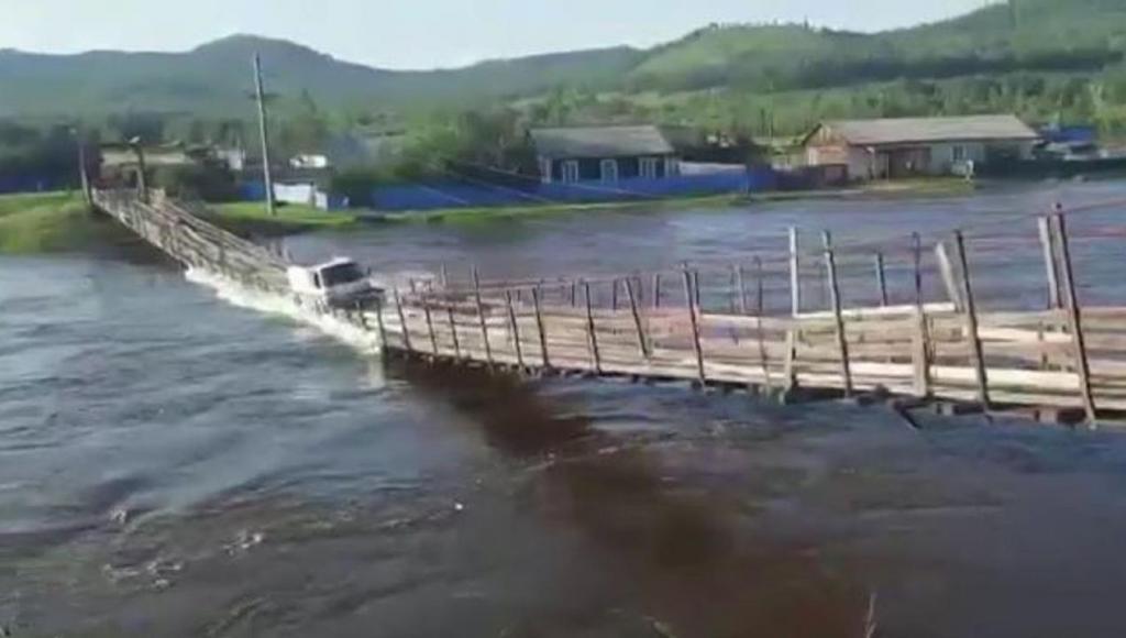 Ponte colapsa na Rússia
