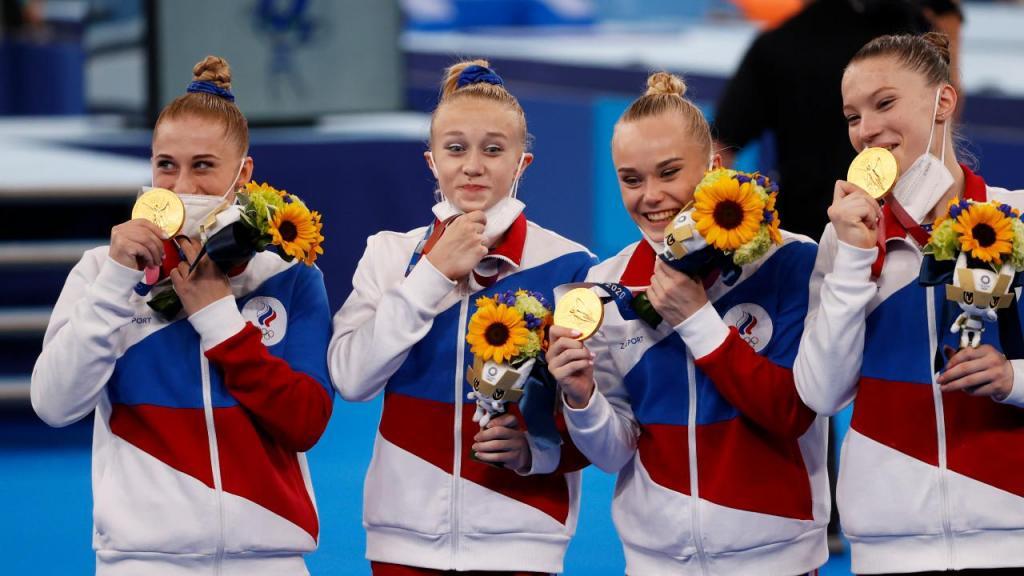 Rússia vence ginástica feminina por equipas Tóquio2020