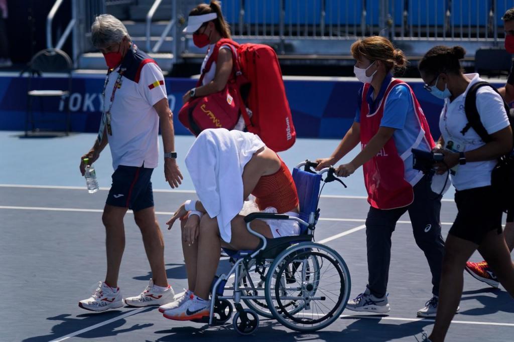 Paula Badosa nos Jogos Olímpicos (AP Photo/Seth Wenig)