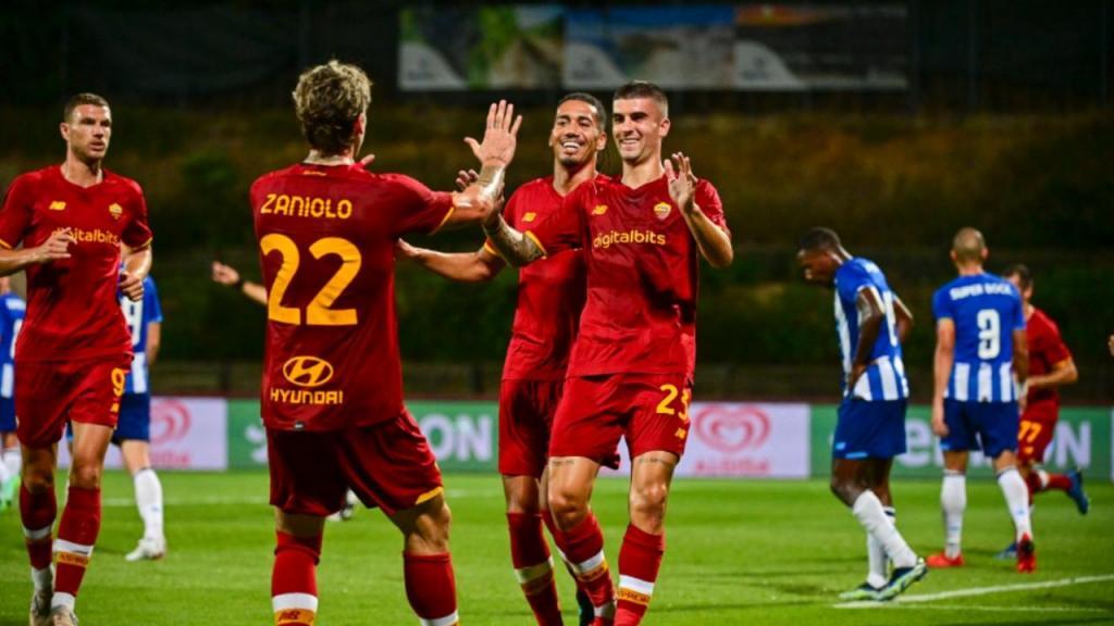 FC Porto-Roma (twitter Roma)