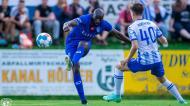 Moussa Marega marcou belo golo no Hertha Berlim-Al Hilal, jogo de pré-época (Al Hilal)
