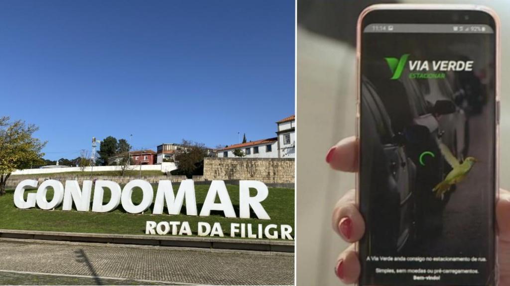 Via Verde Estacionar em Gondomar (Fotomontagem)