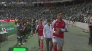 André Horta e Nuno Santos 'pegaram-se' na guarda de honra do Sporting