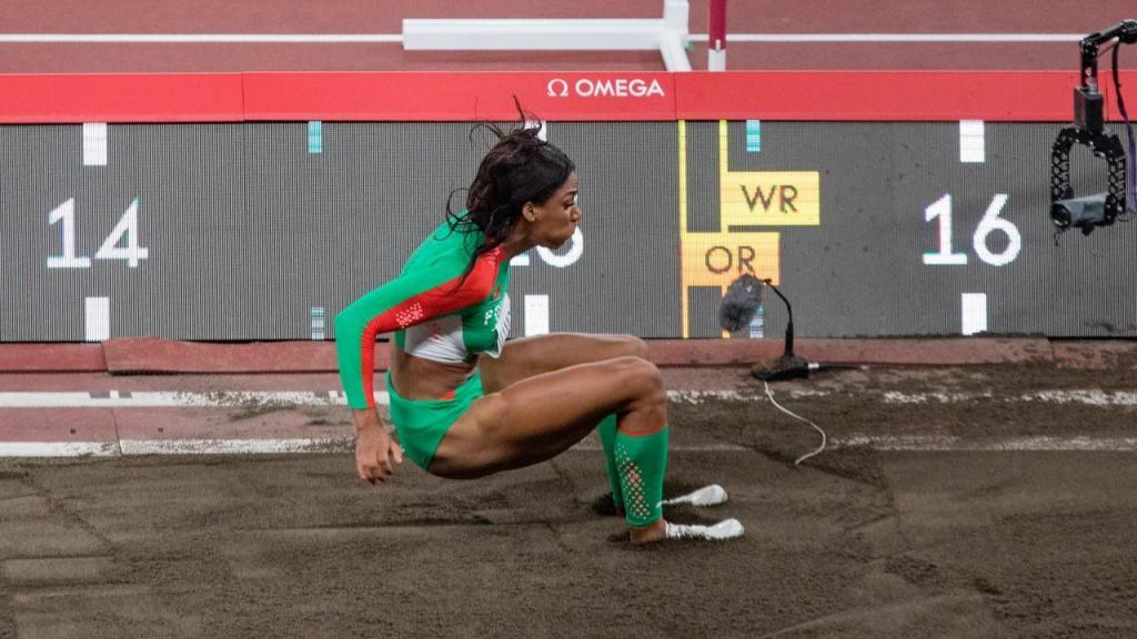 Patrícia Mamona na final do triplo salto, em que conquistou a prata nos Jogos Olímpicos (José Coelho/LUSA)
