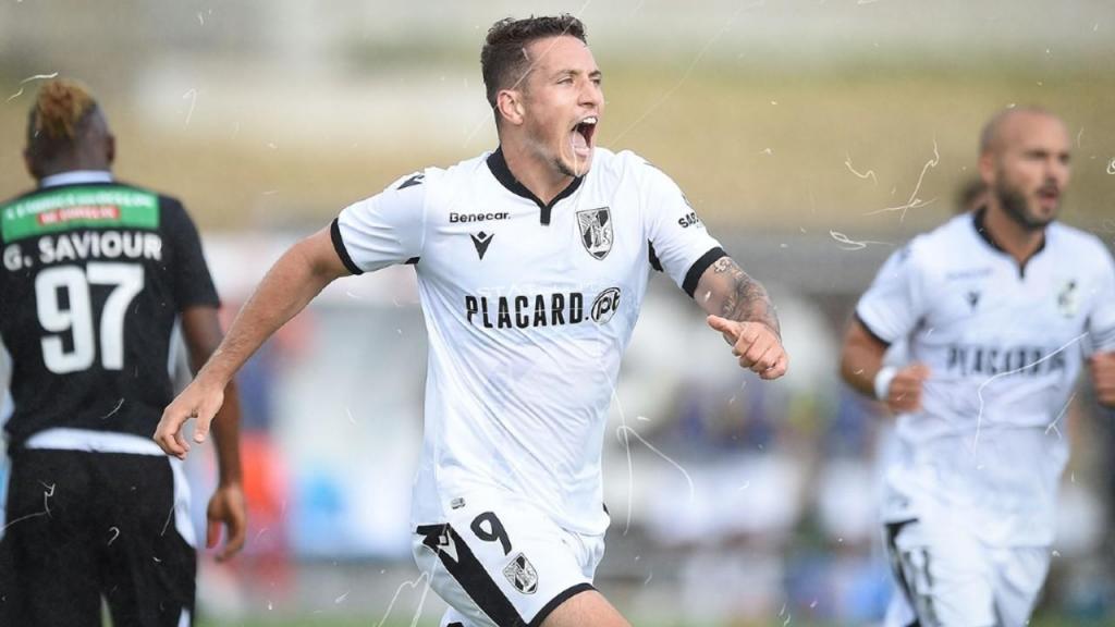 Bruno Duarte marcou o único golo do Casa Pia-V. Guimarães (Vitória SC)