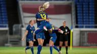 Equipa feminina de futebol da Suécia festeja acesso à final, após vitória por 1-0 sobre a Austrália. Voltam à final após terem sido finalistas vencidas em 2016 (AP)