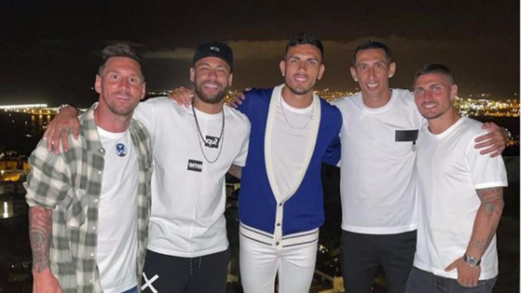 Messi, Neymar, Leo Paredes, Di María e Verratti (instagram)