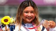Sky Brown esteve entre a vida e a morte, agora é vice-campeã olímpica