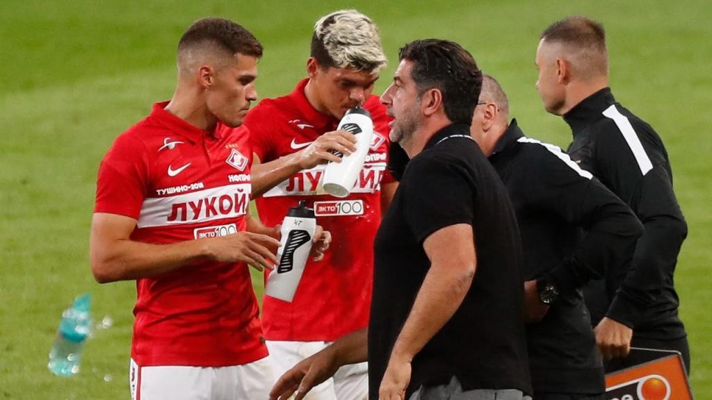 Rui Vitória no Spartak-Benfica (Maxim Shipenkov/EPA)