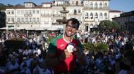 Canoísta Fernando Pimenta recebido em Ponte de Lima após a medalha de bronze em Tóquio2020 (Estela Silva/LUSA)