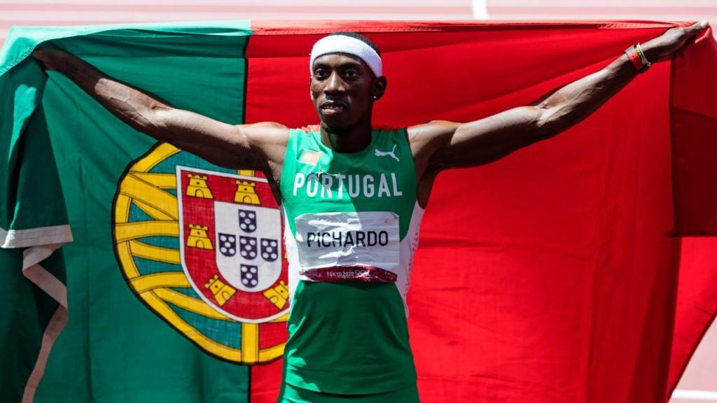 Pedro Pichardo festeja ouro olímpico (José Coelho/LUSA)