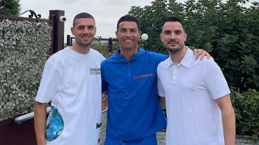 Cristiano Ronaldo foi despedir-se de Demiral (foto Instagram)