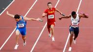 Estafeta 4x100 masculina (Tóquio2020/Lusa) Itália Reino Unido