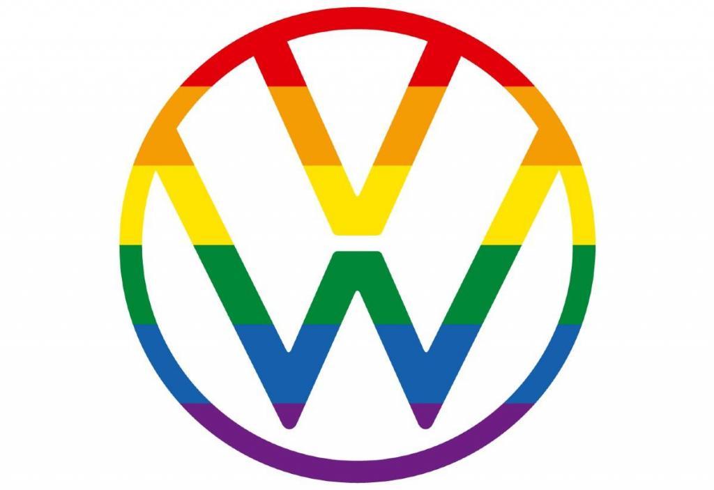 Logo da Volkswagen para o festival Orgulho de Milton Keynes