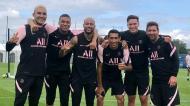 Navas, Draxler, Di Maria, Mbappé, Neymar e Messi (Foto: PSG)