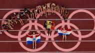 Atletas de heptatlo feminino nos Jogos Olímpicos de Tóquio2020 (AP Photo/Morry Gash)