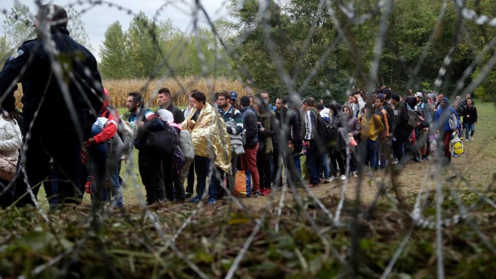 Refugiados chegam à Europa