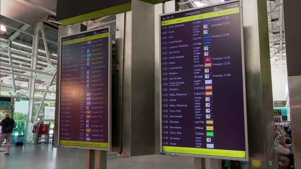 Viajantes do Brasil deixam de fazer isolamento à chegada a Portugal