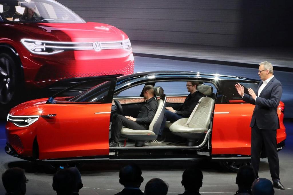 Volkswagen no Salão de Xangai de 2019 (Associated Press)