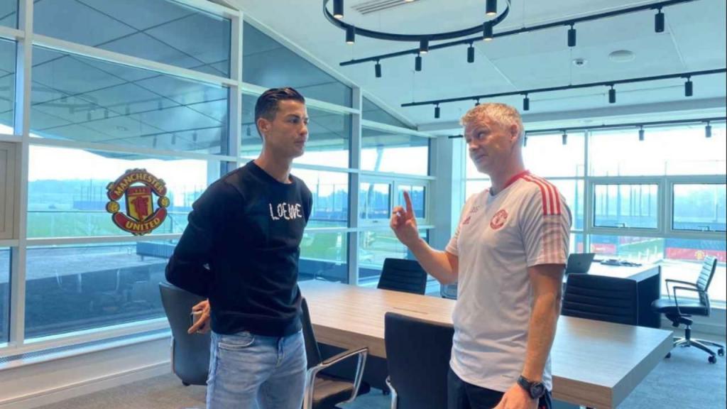 Cristiano Ronaldo e Ole Gunnar Solskjaer