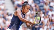 Leylah Fernandez no US Open (Justin Lane/EPA)