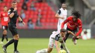 Willy Delajod num Rennes-Montpellier, em agosto de 2020 (David Vincent/AP)