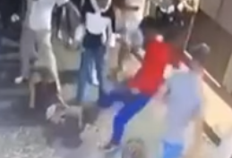 Homem inconsciente após ser espancado no Bairro Alto em Lisboa