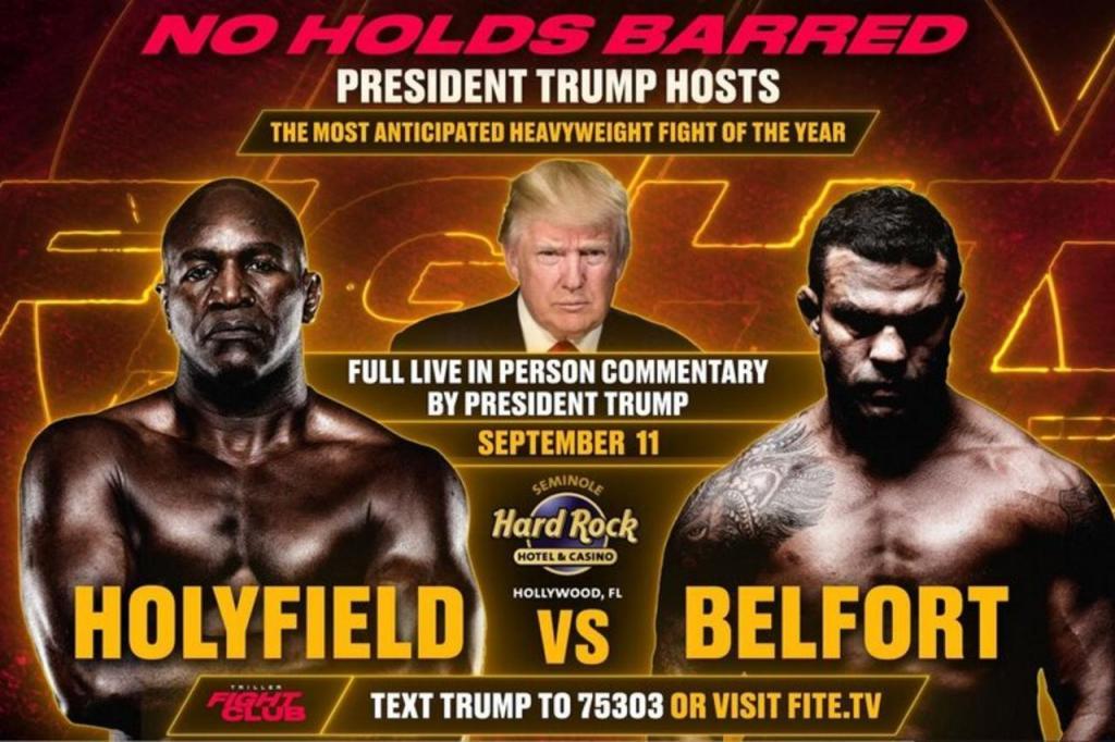 Donald Trump vai comentar combate de boxe