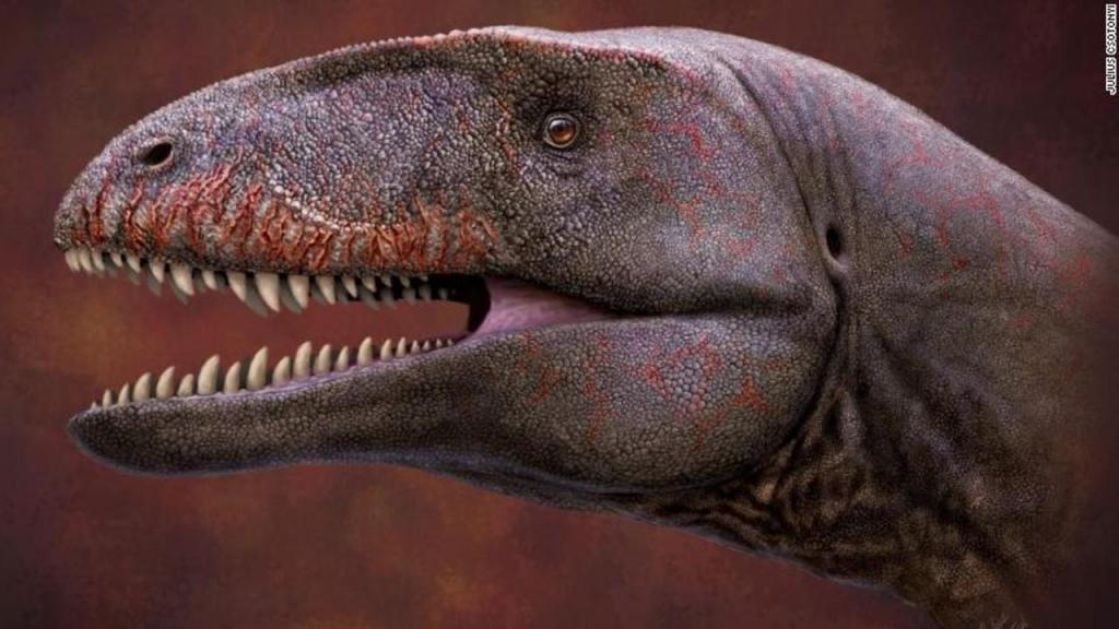 Dinossauro com dentes de tubarão