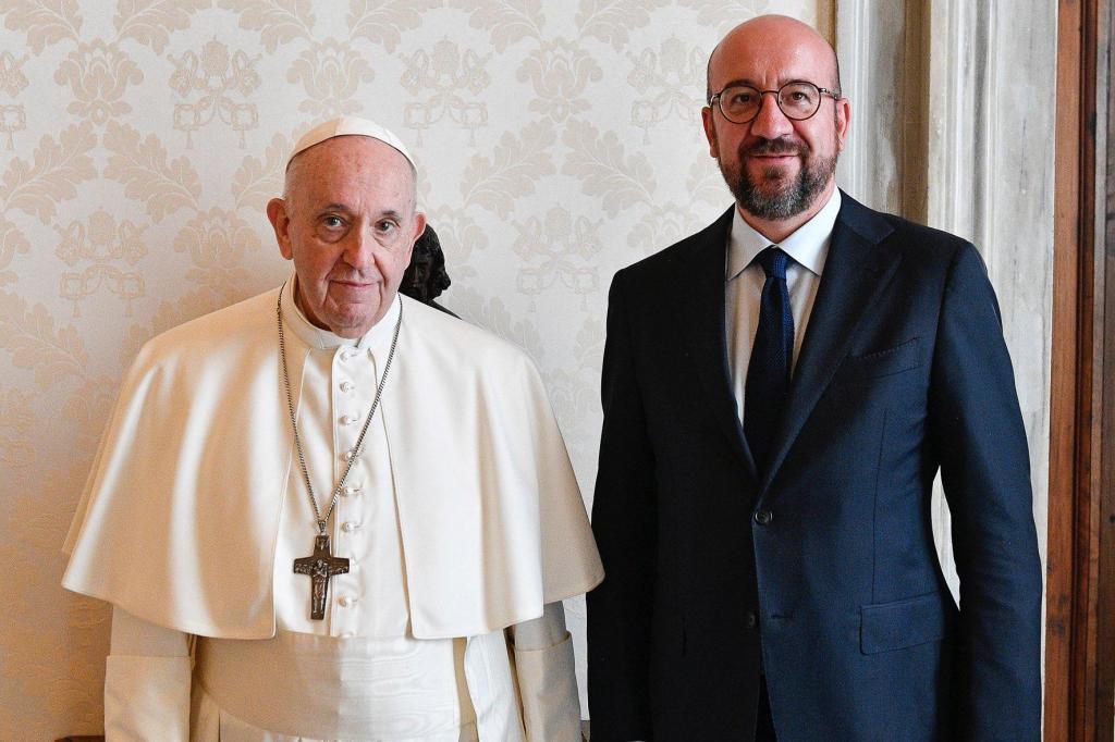 Papa Francisco e Charles Michel