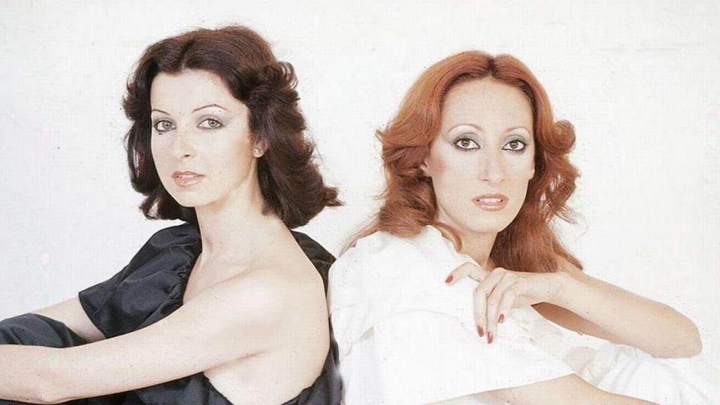 María Mendiola (à direita) com Mayte Mateos: formavam a dupla Baccara
