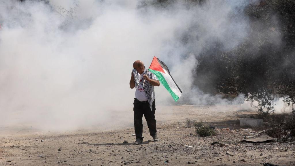 Manifestações na Palestina contra ocupações israelitas