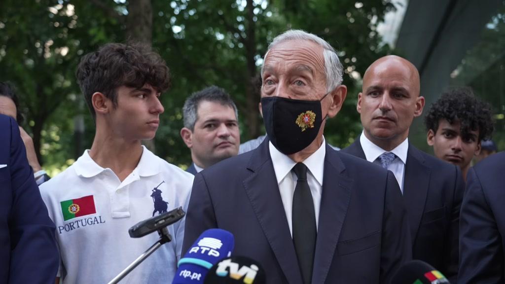 Nova Iorque: comunidade portuguesa recebe Marcelo na visita ao Memorial do 11 de Setembro