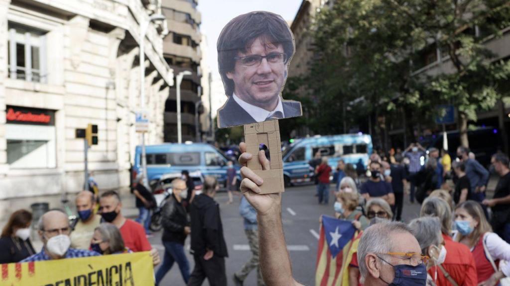 Protestos contra a detenção de Puidgemont