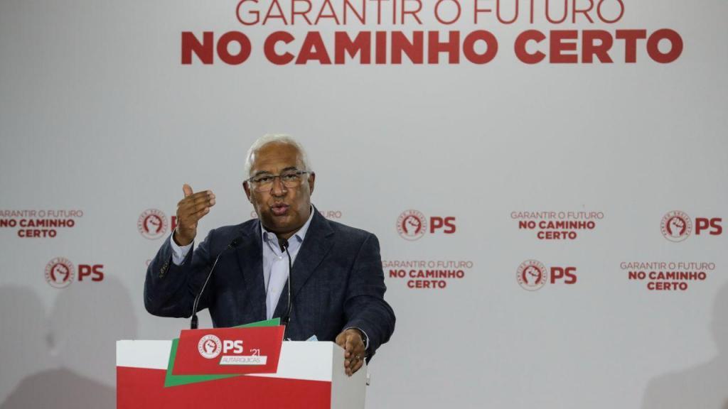 O secretário-geral do PS, António Costa apoiou o candidato à Câmara de Odivelas, Hugo Martins