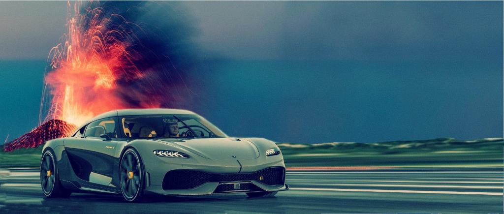 Koenigsegg - energia do vulcão