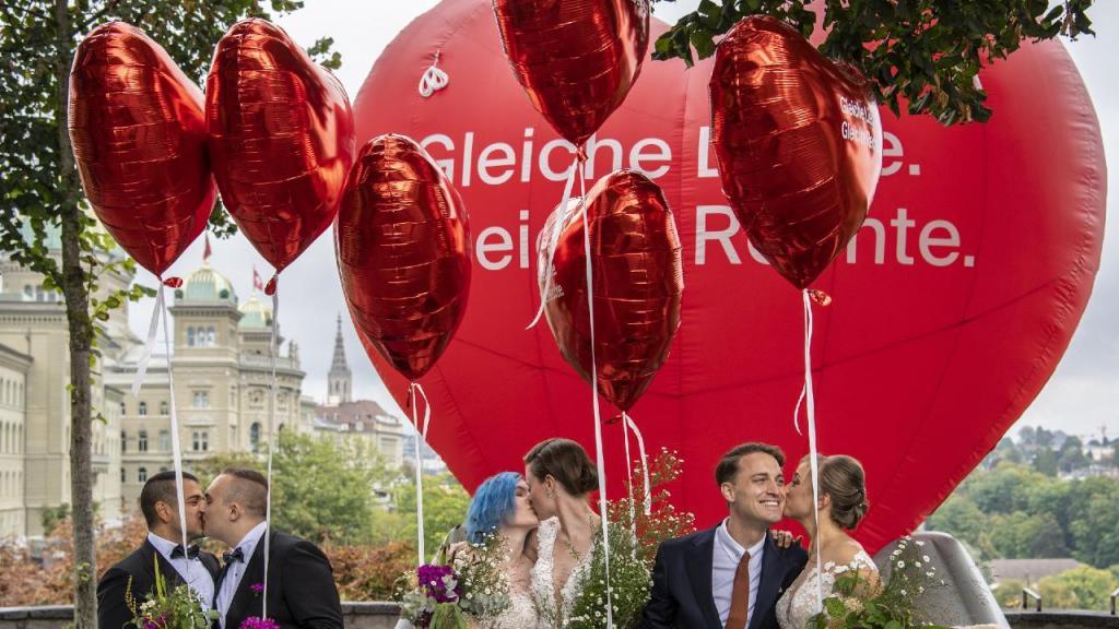 Ensaio de casamentos entre todos os sexos na Suíça